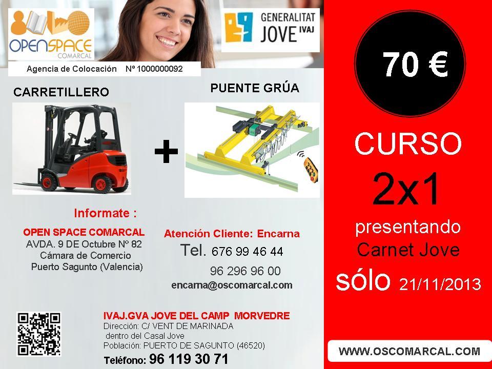 2x1 curso carretillero y puente grua s lo 70 presenntado - Casal jove puerto sagunto ...