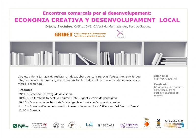 Jornada de economia creativa y desarrollo local 3 octubre - Casal jove puerto sagunto ...